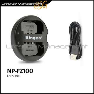 Sony NP-FZ100 Battery Dual USB Charger for A9/A7M3/A7R3  camera batteries charging