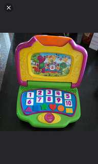 Barney Mattel Learning Laptop Computer Interactive Musical Toy
