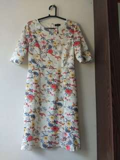 (⬇️ price ) ZALORA Floral White Dress