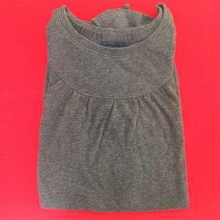 Black Gray Long Top