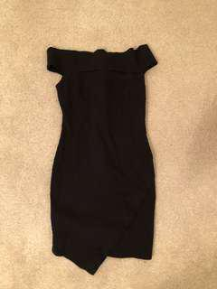 Black Off the Shoulder Bodycon Dress (bought from Urban Planet)