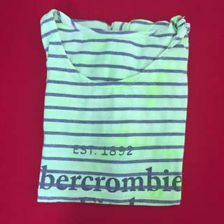 Abercrombie and Fitch Neon Green T-Shirt