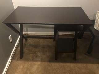 Dark brown ikea desk