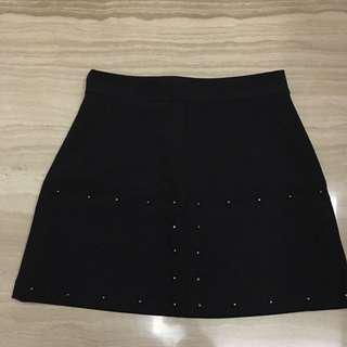 Zara Studed Black Skirt