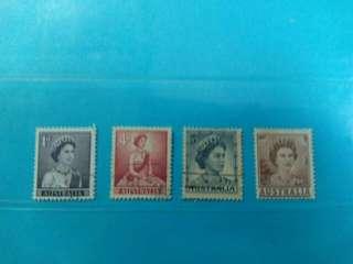 Set of 4 Australia stamps