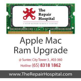 Apple MacBook Ram Upgrade Service