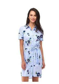 🌸Button  down dress floral with belt