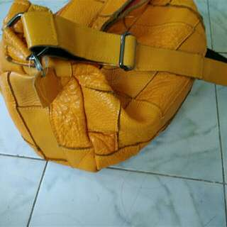 Pure Leather Yellow Sling