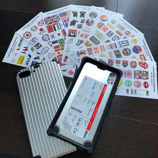 Ready Stocks: Luggage Sticker iPhone 7+ 8+ Case