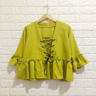 NEGO TIPIS Katie Blouse in Lime