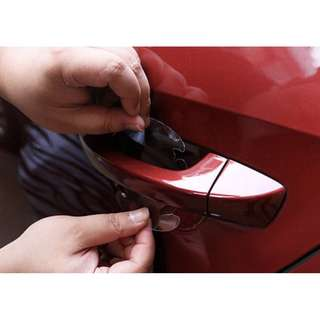 NEW Car Door Handle Paint Protective Film Sheet Anti Scratch Clear Adhesive Easy To Apply