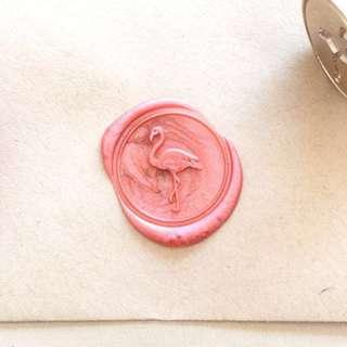 Wax seal salmon pink
