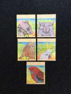 1987 Australia Wildlife Series2 5 Values Used Set