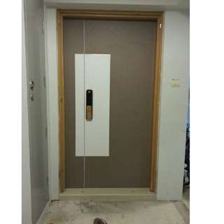 HDB Fire Rated Main Door with Laminate Design at $1099 (3x7ft) Call 96177025 Leon