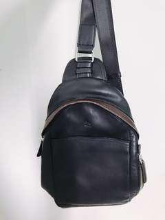 Full leather sling bag