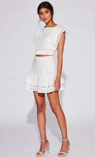 PRICEDROP!!! Sir The Label Ciel White Top x Skirt