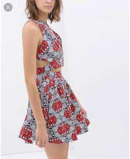 TRF Printed Crossbody Dress