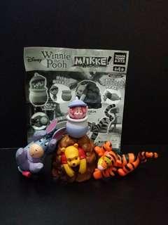 winnie the pooh扭蛋一組4隻