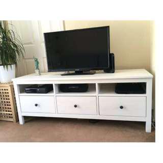 HEMNES TV BENCH - White Stain