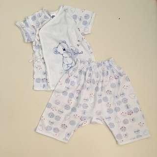 Enfant Tieside and Pajama Terno Newborn 3-6 months