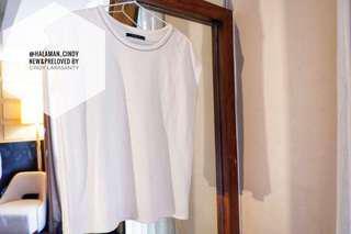 White silver line top