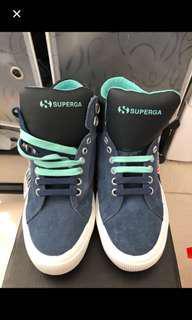 全新🆕SUPERGA 雙色鞋帶高筒鞋follow 我。有其它産品😊