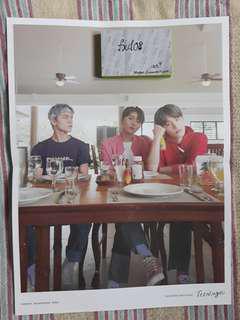 Vernon Seungkwan Dino Mini Folded Poster Teen Age Album Seventeen