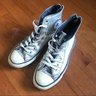 Converse Silver color with zipper at back Sneakers Shoes 銀色後踭拉鏈波鞋便服鞋
