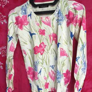 NETT! Sweater Flowery WHITE