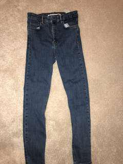 High waisted skinny jeans size 6 from zara