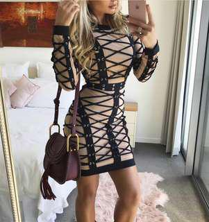 Bandage Lace Dress