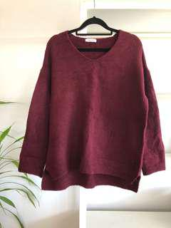BRAND NEW Burgundy Sweater