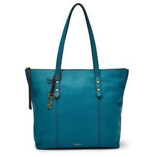 Authentic Fossil Jenna Totebag (color dark turquoise/tosca)