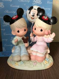 "MIB Walt Disney collection Precious Moments Figurine ""Happiness is Best Shared Together"" #4004156"
