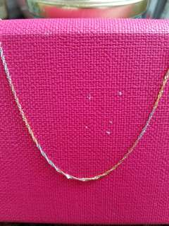 """14K585 3/Colors Gold Necklace 14K585三色金意大利頸鍊16"""" / 18""""Long                        100% Genuine and ItalyGold"""