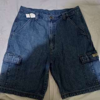New wrangler denim shorts
