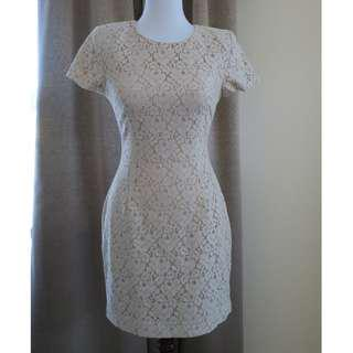 French Connection | White Lace Mini Dress | Size 8