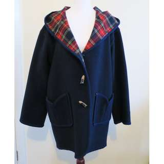 Navy & Red Checkered Reversible Coat