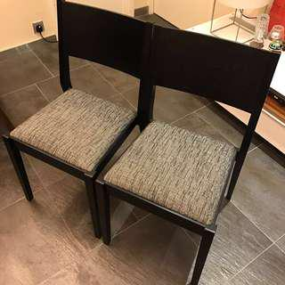 Francfranc dining chairs x2