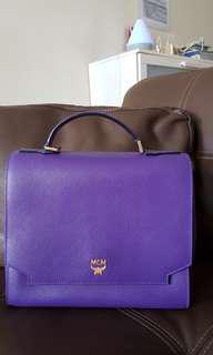 Authentic MCM Purple Handbag with detachable strap