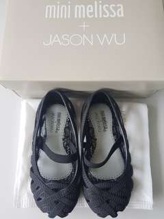 Mini Melissa Jason Wu s7 14cm complete with box size 7 black shoes
