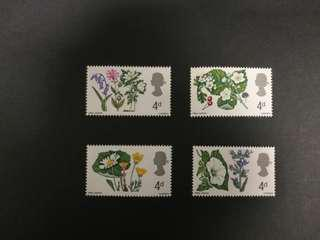 British 1967 Flowers set.