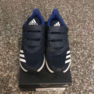 Adidas FortaRun CF K for Boys sz US1 1/2 in Navy / Royal Blue