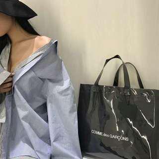 Japan PVC Kraft Black Paper Handbag