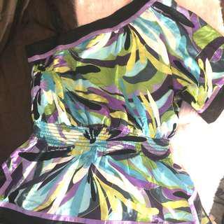 BNWT Asymmetrical Silk Off Shoulder Top