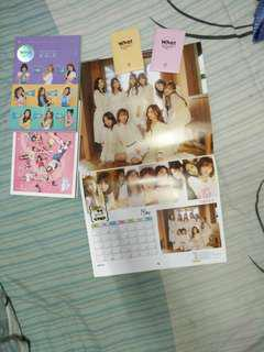 Twice what is love photo book n photo card set with calender