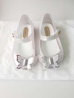 Mini Melissa Ultragirl Fly Butterfly s6 minimel pearl white shoes ootd zaxy guess zara authentic jelly shoes