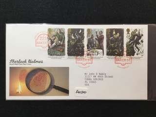 """1993 Great Britain Sherlock Holmes. Centenary Of The Publication Of """"The Final Problem"""" FDC (No Description Card)"""