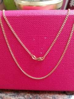 "18K750 Yellow Gold Necklace24""long❤New❤Italy Made 18K750 黃金意大利頸鍊"