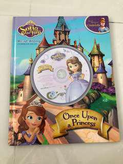 Once Upon a Princess Sofia the First Read Along Storybook and CD